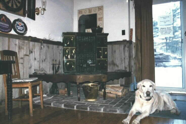 German tile stove