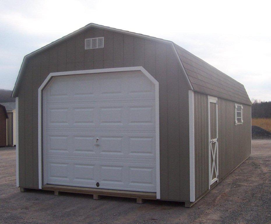 Brokie 8x8 wood shed replacement for Wooden playhouse with garage