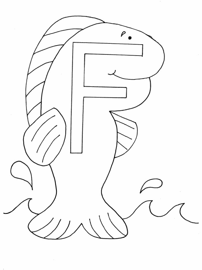 f for fish coloring pages - photo #9