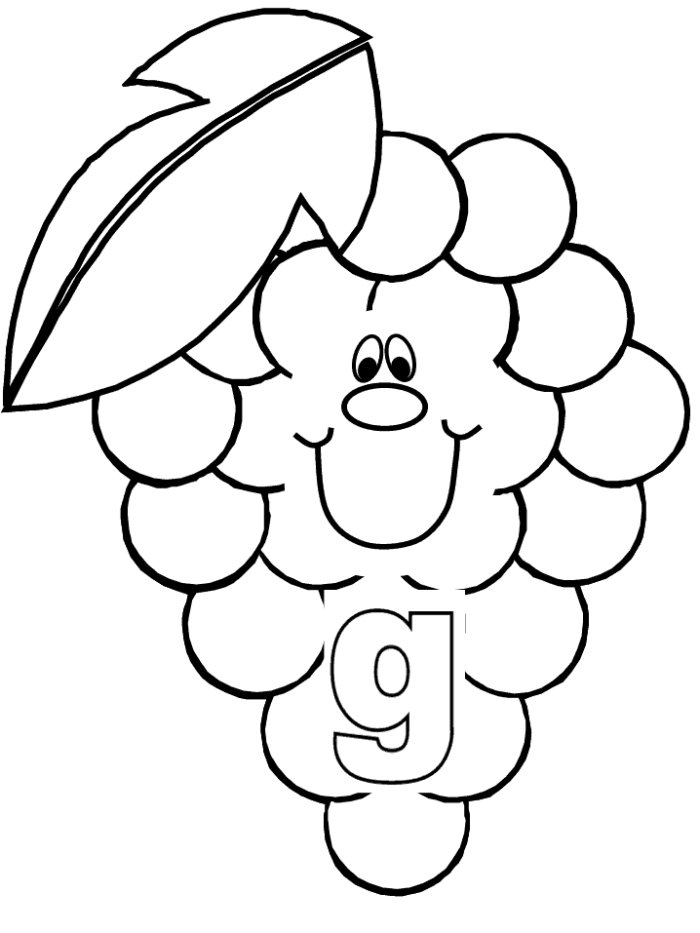 Grape 11 coloring page / picture | Super Coloring