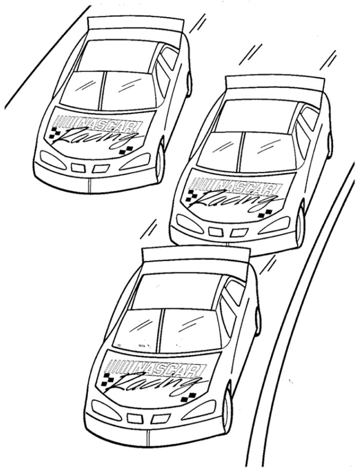 Nascar Coloring Pages