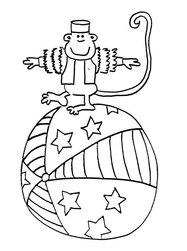 carnival monkey coloring pages - photo#1