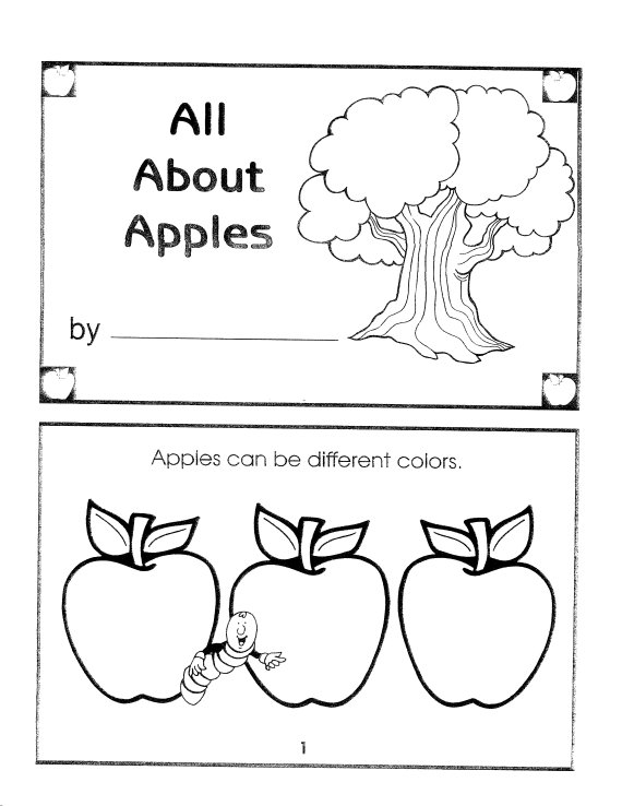 Apple Coloring Pages For Preschoolers : Food coloring sheets janice s daycare