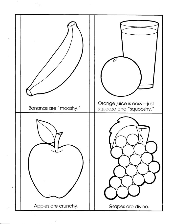 Food Coloring Pictures. Food Coloring Sheets