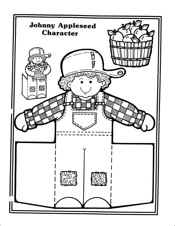 johnny appleseed free coloring pages - photo#20