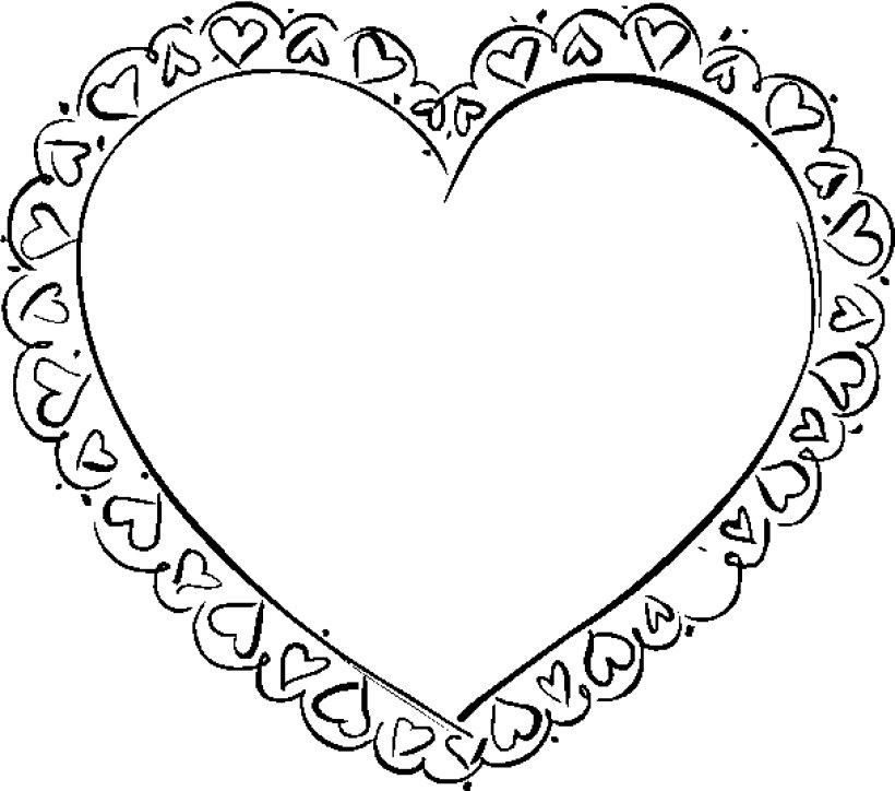 coloring pictures of valentine hearts