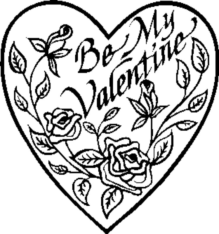 Valentine Pictures - Valentine's Coloring Pages - Valentine's Day