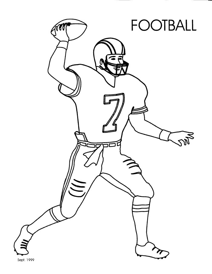 free coloring pages football player - photo#10