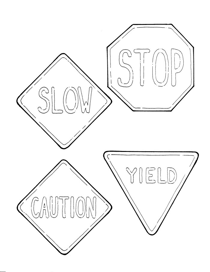safety signs coloring pages - photo #1