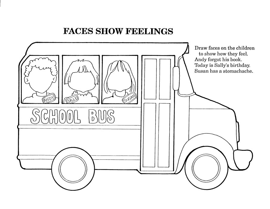 School Bus Coloring Pages For Kindergarten : School coloring sheets janice s daycare