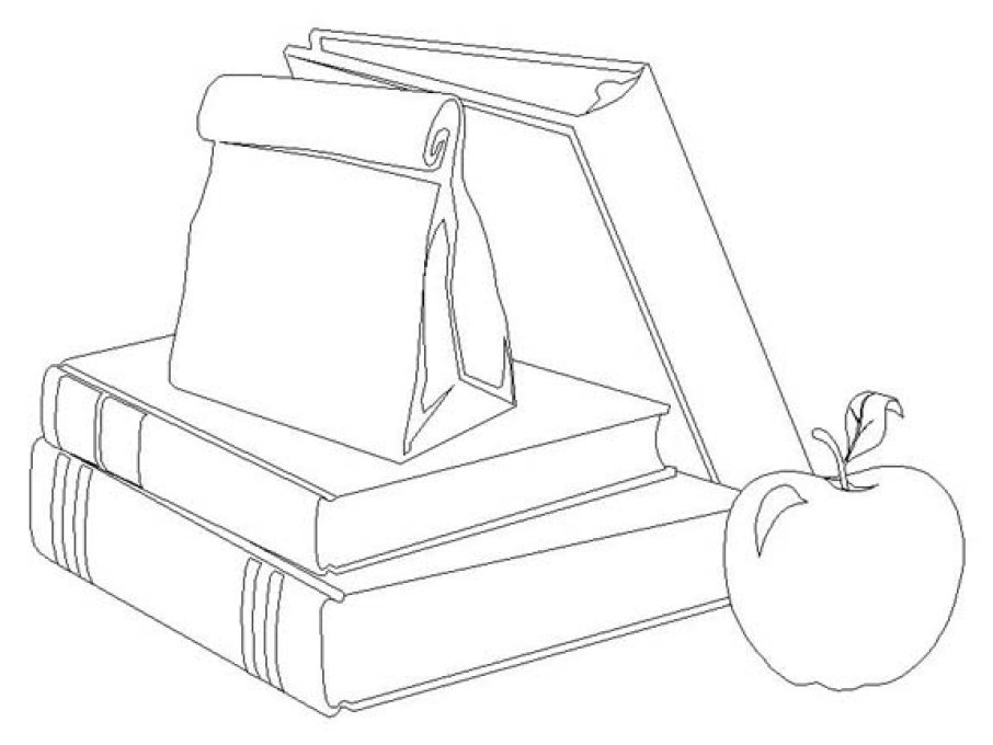 School Books Coloring Pages School Books Coloring