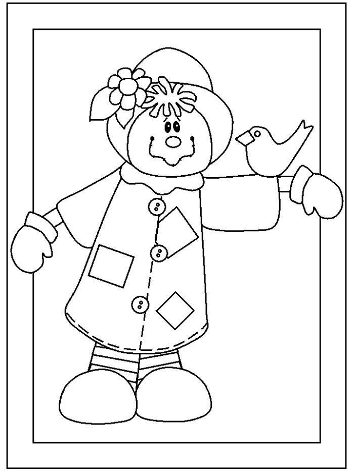 4 Seasons Colouring Sheets : Fall seasons janices daycare
