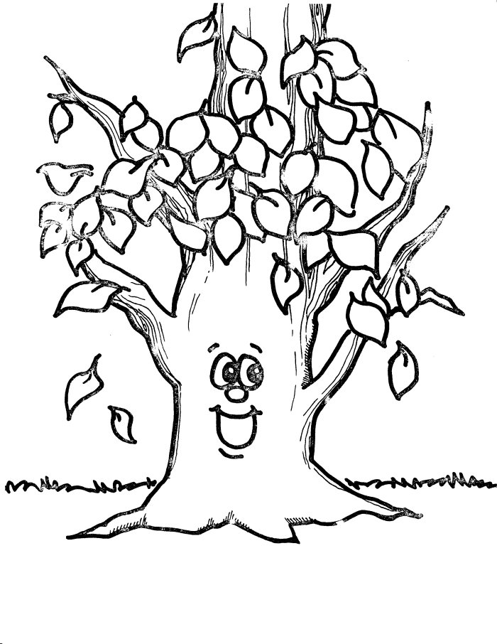Fall Seasons Janice S Daycare Fall Tree Coloring Page