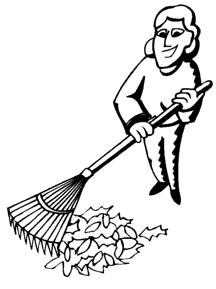 Rake coloring pages for Rake coloring page