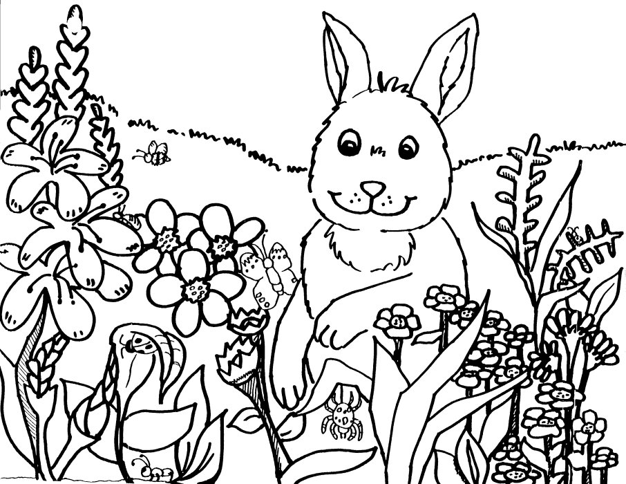 Spring coloring book pages you can print and color. title=