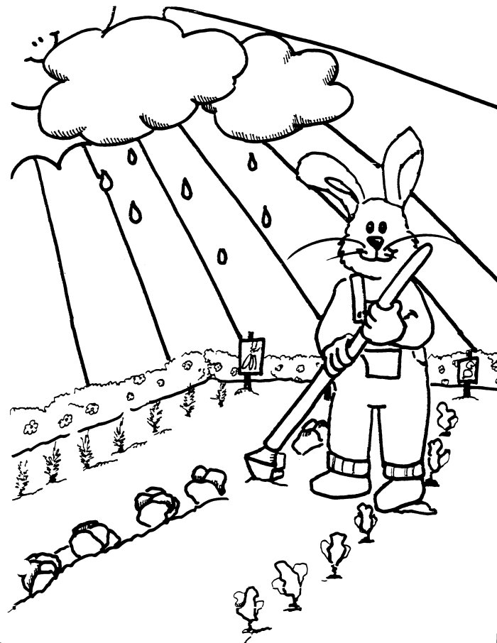 Spring seasons janice 39 s daycare for Spring garden coloring pages