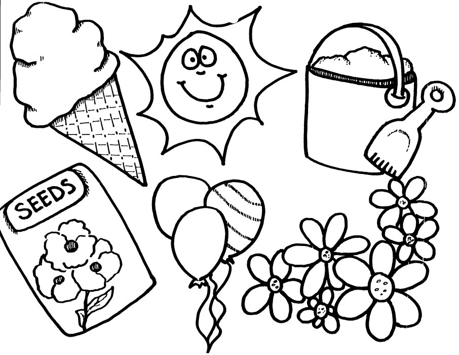 Spring coloring pages story words pics for Spring color page