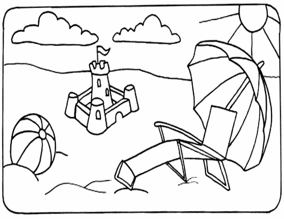 Summer Seasons Janice S Daycare Summer Coloring Page