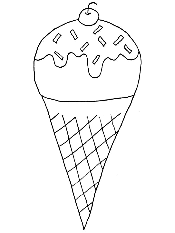 Printable Ice Cream Cone Pattern And Scoop 9jasports