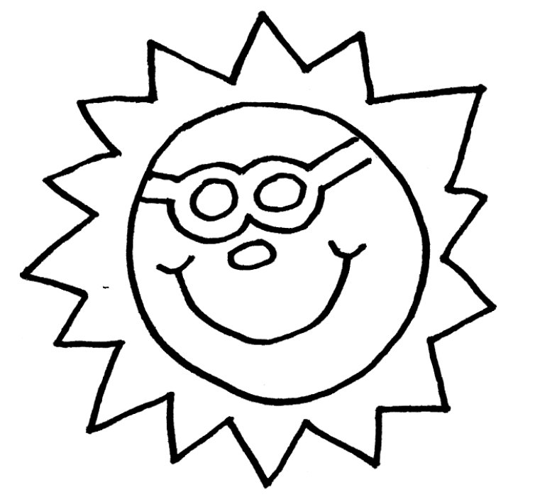 Summer seasons janice 39 s daycare for Coloring page of sun