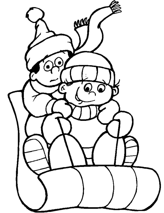 winter animal coloring pages - photo#18
