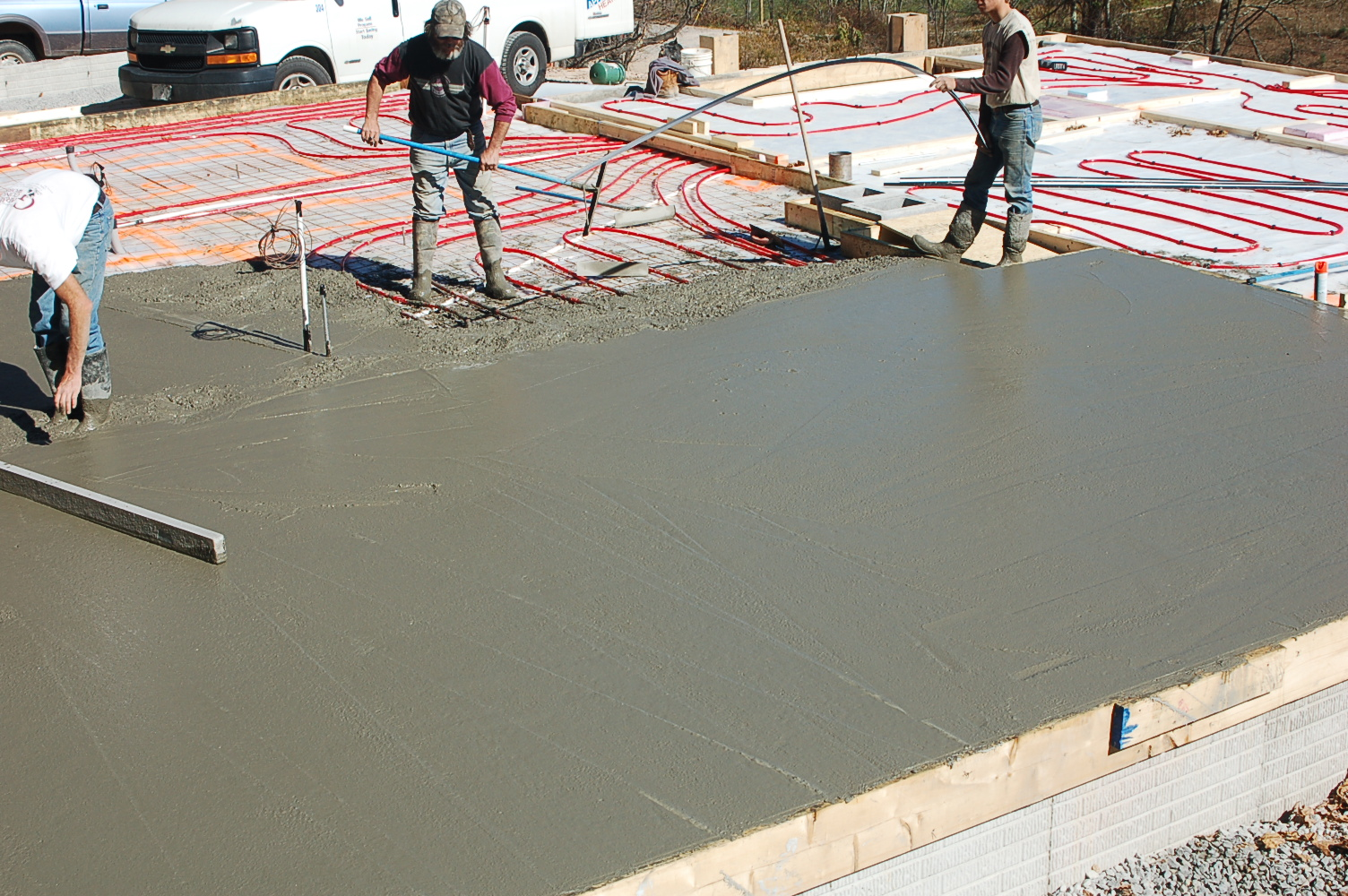 House for Best temperature to pour concrete foundation