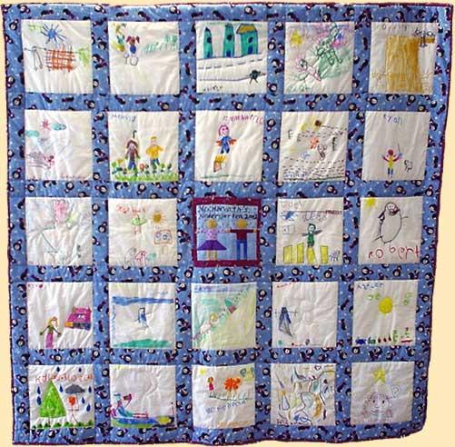 Classroom Paper Quilt Ideas ~ Nursery rhyme class quilt