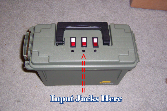 Best spot to put your heater for Ice fishing battery box