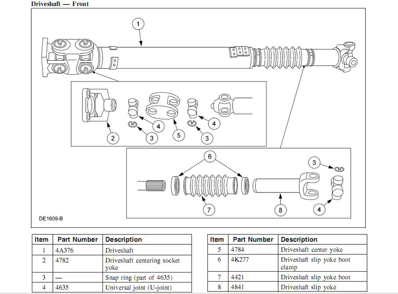 1024273 Non Replaceable U Joints On Front Driveshaft besides Daniel Trucking Shop further Engine further Four Wheel drive furthermore Toyota Land Cruiser Parts Diagram. on toyota tacoma propeller shaft