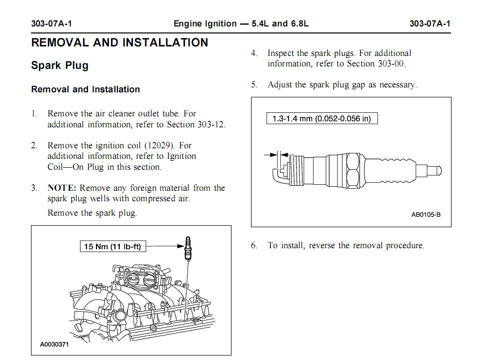 SparkPlugRemInst ford spark plug gap on wiring diagram ford fiesta 2007