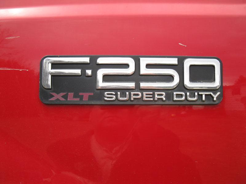 2004 F250 Triton V8 Emblems