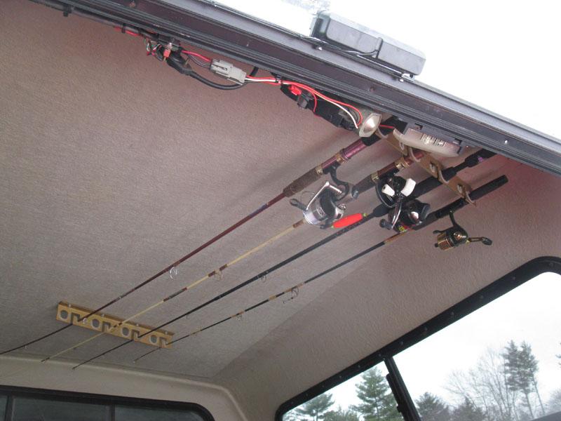 Truck cap fishing rod holders ford truck enthusiasts for Fishing rod holder for truck