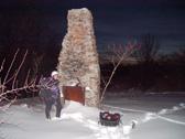 chimney at clark's gully