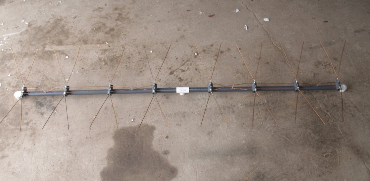 Bow Tie Tv Antenna Designs Ff4 M4 Featured Canadian 8 Bay Wiring Diagram Here Is A Picture Of The Semi Built Phase Lines Between 2 Antennas Have Not Been Attached Yet