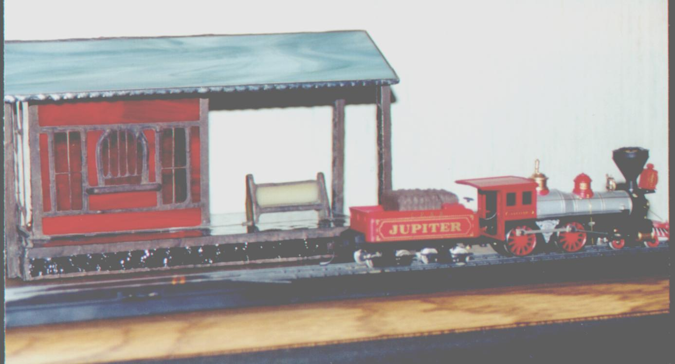Frontier X4 >> JeffArt Stained Glass - train Station