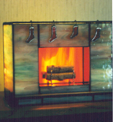 JeffArt Stained Glass - Fireplace