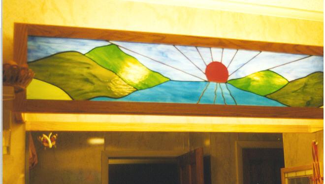 Stained Glass Bathroom Vanity Lights jeffart stained glass - sunrise vanity