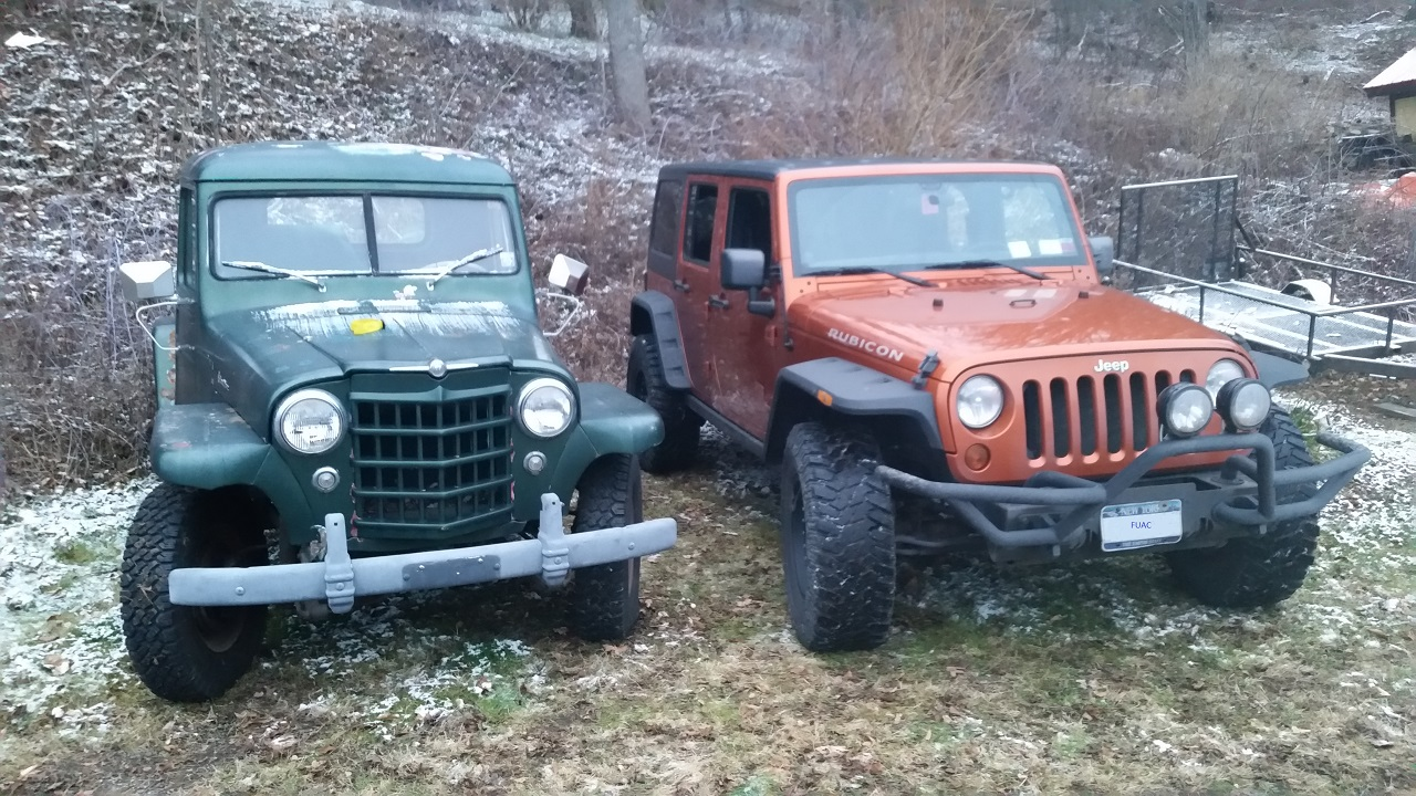 Dimmwatt is right in that the JK is wider than the pickup. Here is a good  view on the difference: