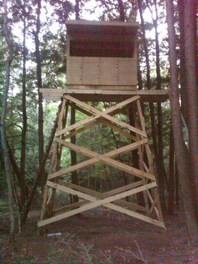 box stands best assembling images stuff blind blinds plans homemade on front stand and hunting deer your building for