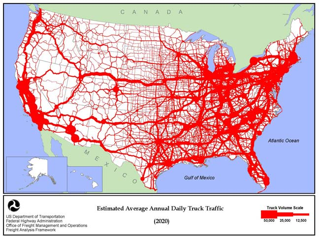 Map Catalog Flow Map - Us traffic map